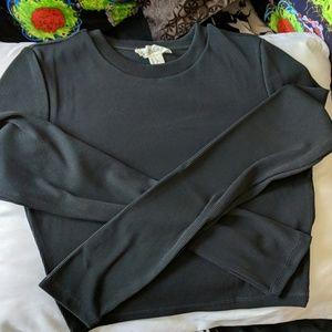 B1G1 50 Ribbed Crop Top Long Sleeved